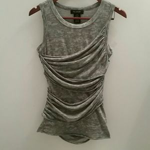 MM Couture by Miss Me - Draped Gray Top Size M